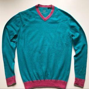 Bugatchi Wool V-neck Sweater